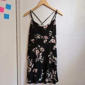 Garage Floral Cross-straps Dress